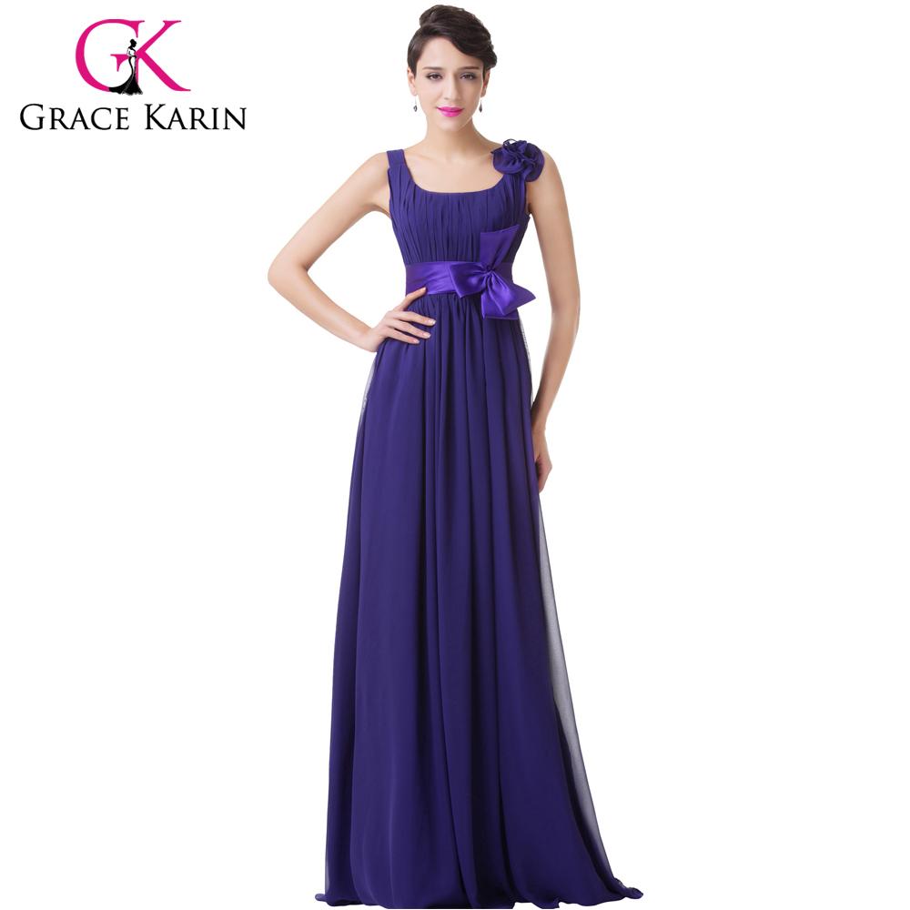 Grace Karin Spaghetti Strap Evening Dresses Chiffon Long ...