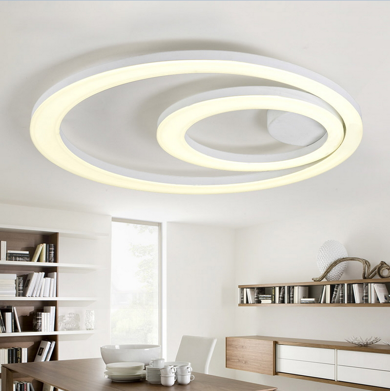 Ceiling Light Fixtures Kitchen: White Acrylic LED Ceiling Light Fixture Flush Mount Lamp