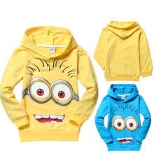 Children T Shirts Despicable Me Boys Minion T Shirt Girls Nova T-Shirt Kids Hoodies Autumn Spring Tops & Tees New 2015