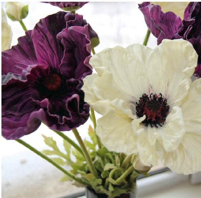 24pcs lot wholesale gorgeous pu real touch corn poppy artificial flowers wedding home decorative. Black Bedroom Furniture Sets. Home Design Ideas