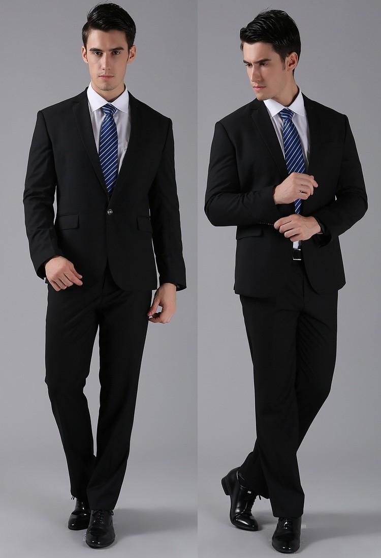 (Kurtki + Spodnie) 2016 Nowych Mężczyzna Garnitury Slim Fit Niestandardowe Garnitury Smokingi Marka Moda Bridegroon Biznes Suknia Ślubna Blazer H0285 12
