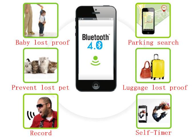 4 цветов смарт беспроводная связь Bluetooth трекер ребенок мешок бумажник охранной сигнализации Key Finder GPS локатор тревоги потерял автоспуска