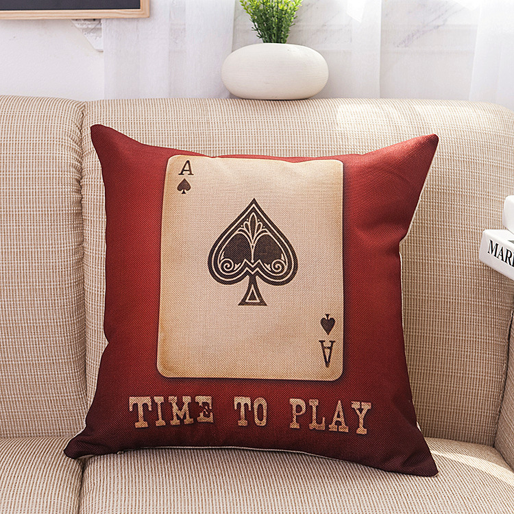 Poker cushion cover Cotton Linen Body decorative pillows Soft Cozy Breathable Hugging cushion covers Anime Home Decor SD8