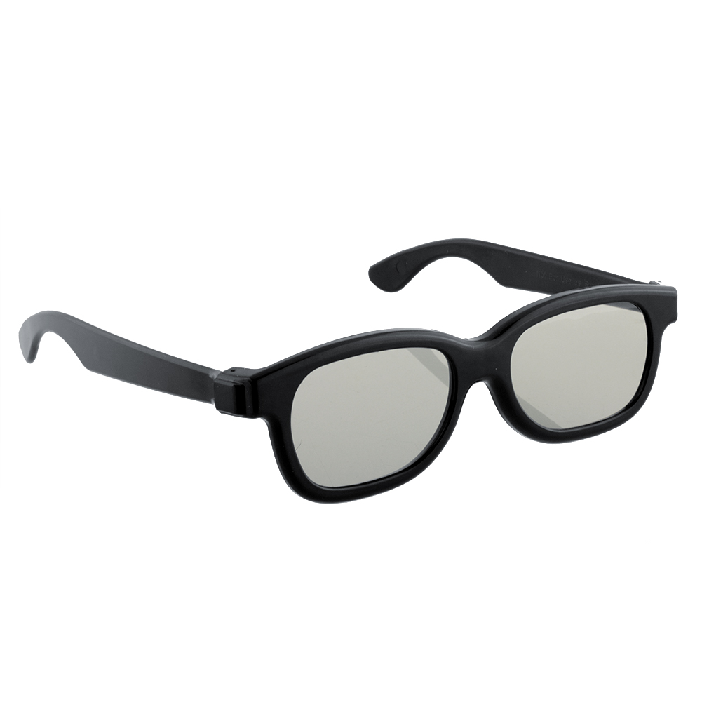 High-quality Black Circle Round Polarized 3D Glasses DVD LCD Video Game  Theatre TV Theatre Movie Circular