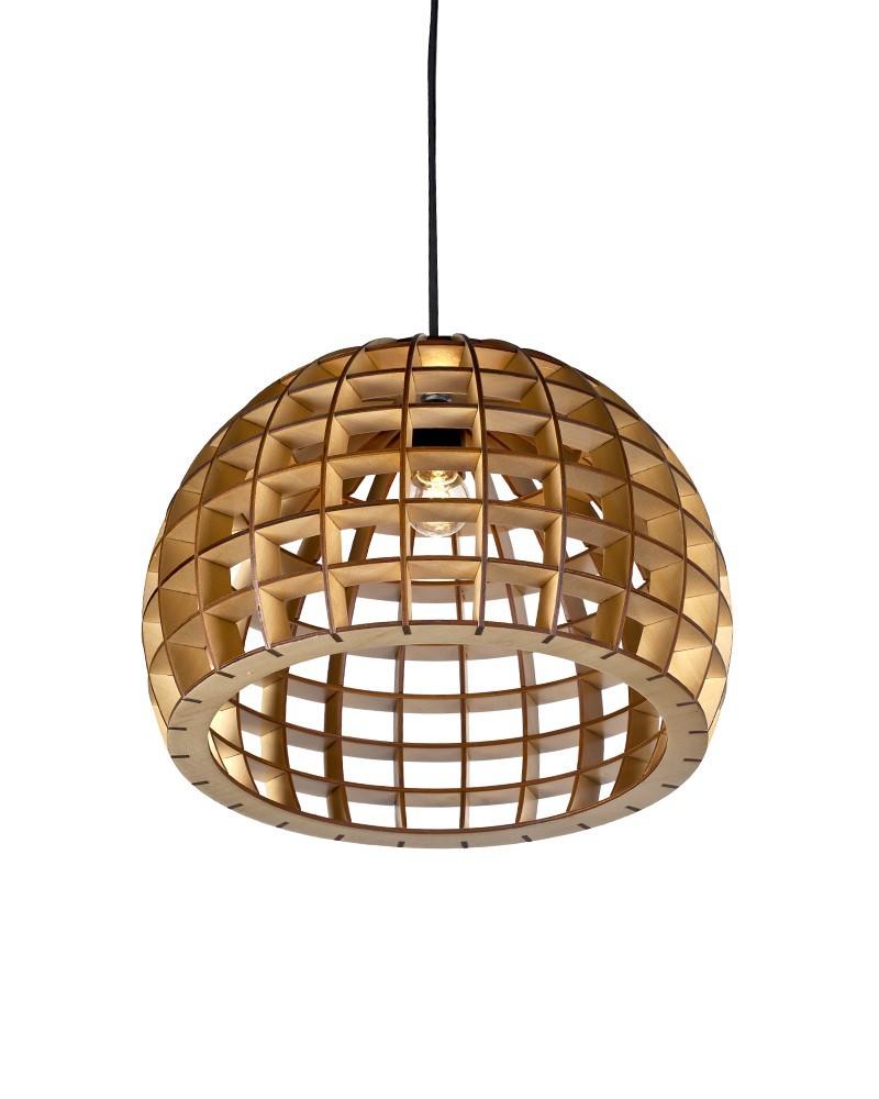 EMS Free Shipping E27 Pendant Light Wood Waved Basket