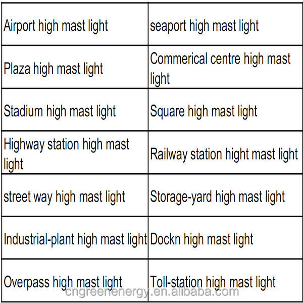 High quality steel 15-35m high mast lighting price with nice design Q235/345 material