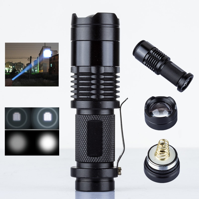 2X Tactical Ultrafire Flashlight T6 High Power 5-Modes Zoom