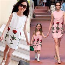 Šaty pro maminku a dceru s květinami