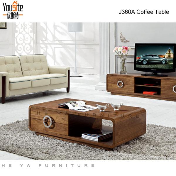 Sofa With Center Table: Wooden Sofa Center Table Design Photograph