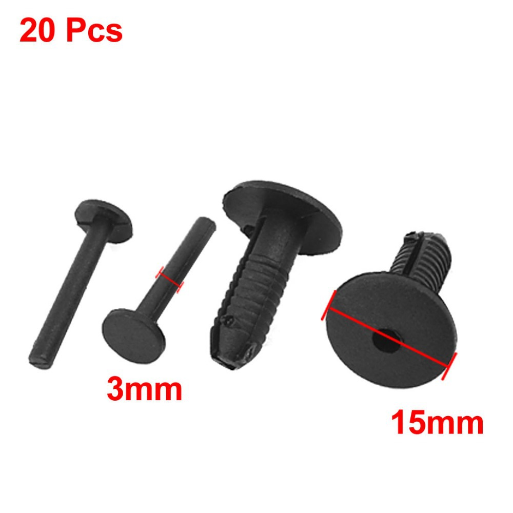 Fit Hole Diameter 3mm Ehicle Car Door Fender Hole Push