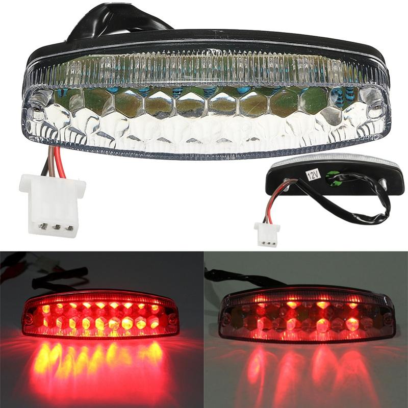 Motorcycle Red LED Rear Lamps Taillight Brake Lights For 50 70 110 125cc  ATV Quad Kart TaoTao Sunl Chinese Motorbike Light