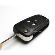 New Remote Flip Key Shell Case 3 Buttons for CHEVROLET Malibu Cruze Aveo Car Alarm Housing Keyless Entry Fob Cover