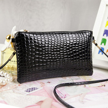 2015 Women Leather Handbags Crocodile Messenger Crossbody Clutch Shoulder Handbag For Women Bag