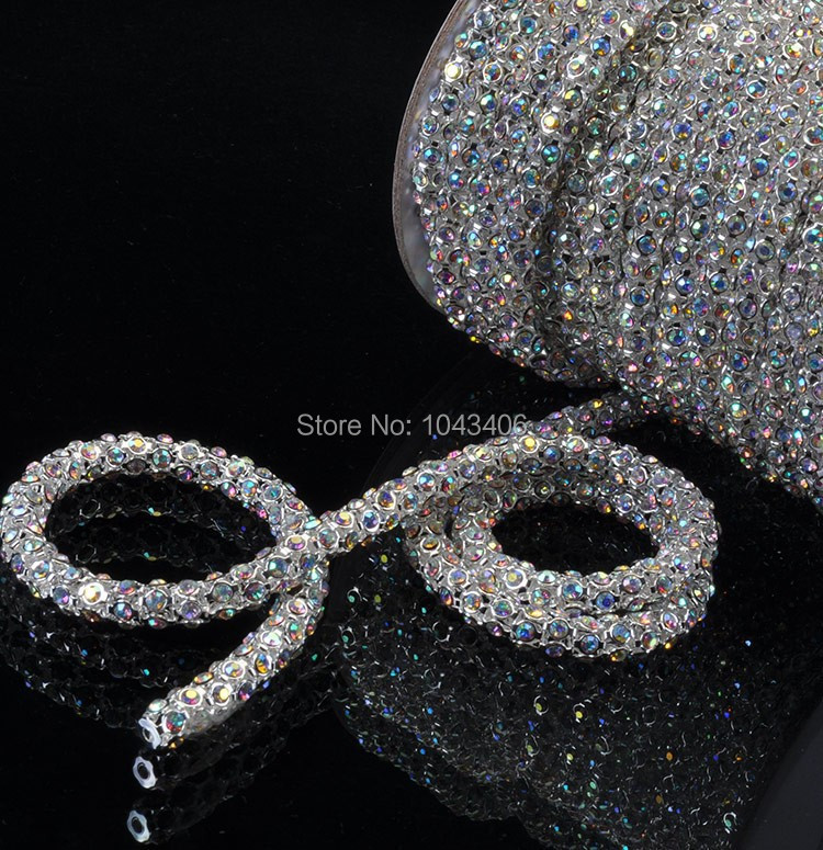 SS28 6mm 5yards lots 888 sew on Crystal Clear Handmade Flower Cup Rhinestone  Chain lace Super Shiny Glitter Rope with silver plating. AB 2a.jpg AB .jpg  ... 11d9e7f5f7ce