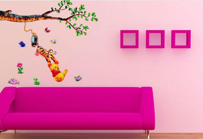 niedlichen cartoon b ume tier wandsticker kindergarten. Black Bedroom Furniture Sets. Home Design Ideas