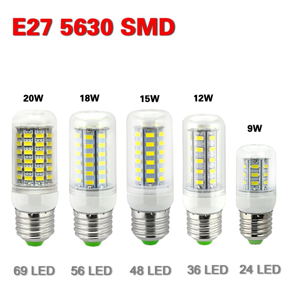 e27 led lamps 5730 220v 7w 12w 15w 18w 20w led lights corn led bulb christmas chandelier candle. Black Bedroom Furniture Sets. Home Design Ideas