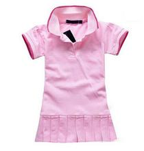 2016 New Summer Baby Girl Clothes Breathable Polo children kids Dresses Tennis Sport tennis baby girl