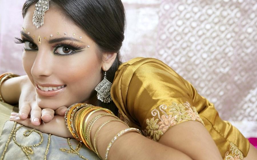 Living room bedroom <font><b>home</b></font> wall <font><b>decoration</b></font> fabric poster woman indian brunette <font><b>asian</b></font> Bollywood portrait native dress