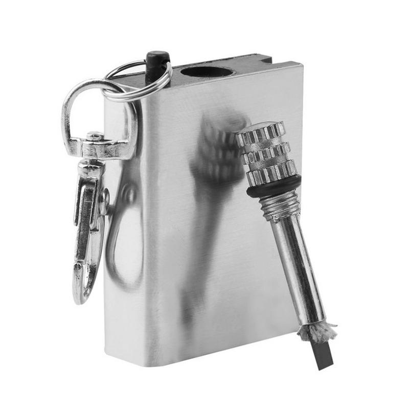 5 шт. металл матч зажигалка газ и нефть стартера брелок для кемпинга открытый тб продажа