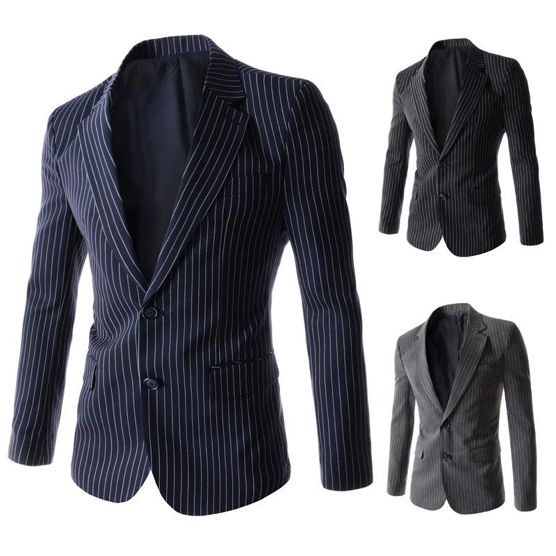 Compra para hombre chaqueta de rayas online al por mayor