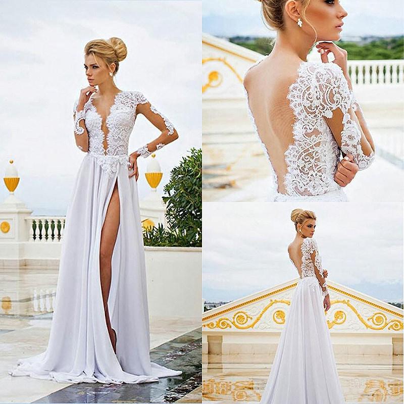 Vestido De Noiva 2015 Spring Summer Beach Wedding Dress
