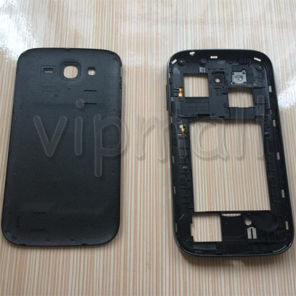 Черный крышка батарейного отсека ближний шатона рамки чехол для Samsung Galaxy дуэта i9082