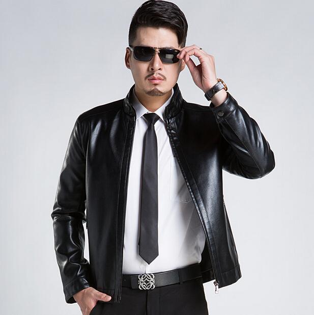 20d55f0809b 2015 New Arrival Sheepskin Leather Suit Business Casual Slim Leather Jacket  Men Plus Size Leather Jacket Men Leather Coat