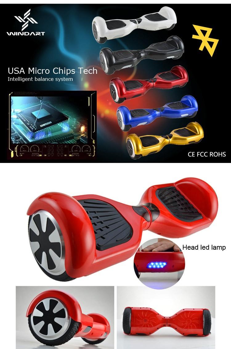 Klasik 2 roda electirc keseimbangan diri bluetooth dipimpin hoverboost grosir, membeli, produsen