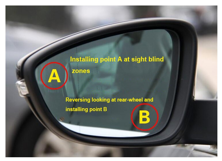 2019 360 Car Wide Angle Blind Spot Mirror Rearview Mirror