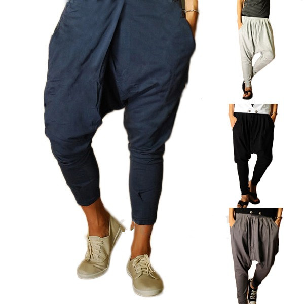 Harem pants men and harem pants womenThe drop crotch joggers are available as black harem pants with two colorful ethnic weaving patterns in the crotch. These hareem trousers are unique in the product range of virblatt and are perfect as ethnic clothing and alternative clothing.