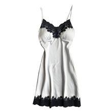 Женское сексуальное нижнее белье, шелковая ночная рубашка, ночное кружевное платье, ночная сорочка, атласная Домашняя одежда, нагрудная нак...(Китай)