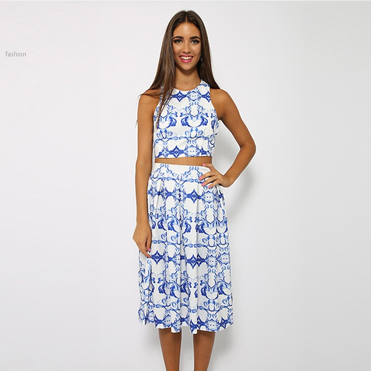 2 Piece Set Women Summer Style Dress 2015 Fashion Women