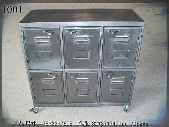 mobilier de bureau bureau papeterie fournitures de bureau vintage style industriel 3 tiroir. Black Bedroom Furniture Sets. Home Design Ideas