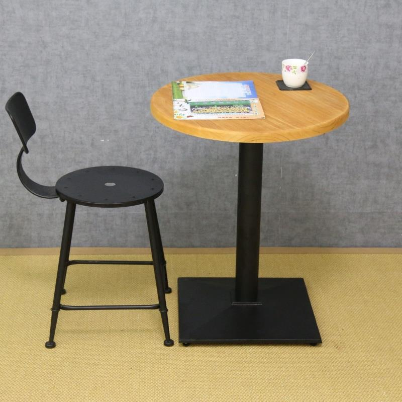 Small Round Table Coffee Tea Negotiation Table Wood