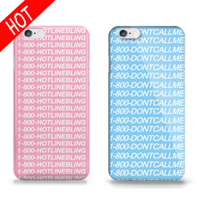 New Phone Case for iPhone 5s 6 6s Hotline Bling words Pattern design DIY Printing housing Covers For iPhone 6s 6 5S 5