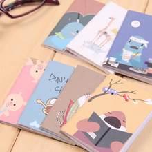 20 страниц/лист, милый корейский мультяшный ноутбук, винтажная ретро Книга-блокнот, Канцтовары, портативный маленький пустой ноутбук 8x6 см(Китай)