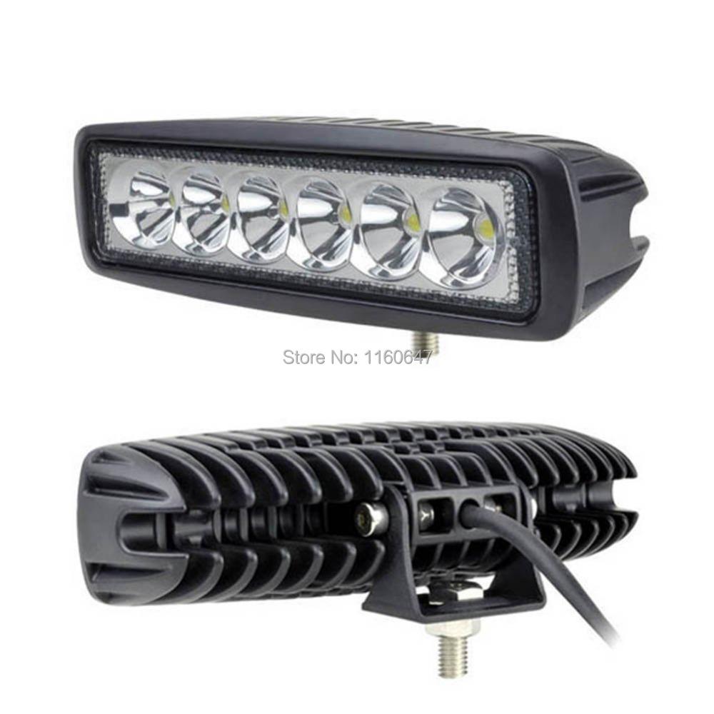 2pcs 6 39 39 inch mini 18w led light bar ip67 4x4 4wd tractor car atv spot off road fog lights truck. Black Bedroom Furniture Sets. Home Design Ideas