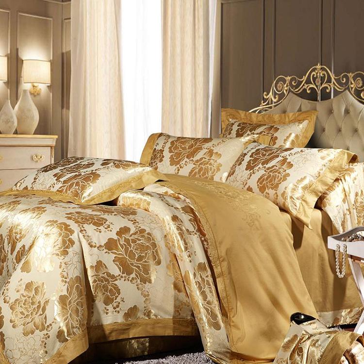 achetez en gros or couvre lit en ligne des grossistes or couvre lit chinois. Black Bedroom Furniture Sets. Home Design Ideas
