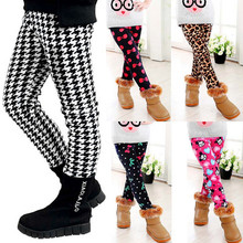 New 2015 Winter Girls leggings Children kids Pants Plus Velvet Thick Warm Pants Kids Trousers children's clothing bobo choses