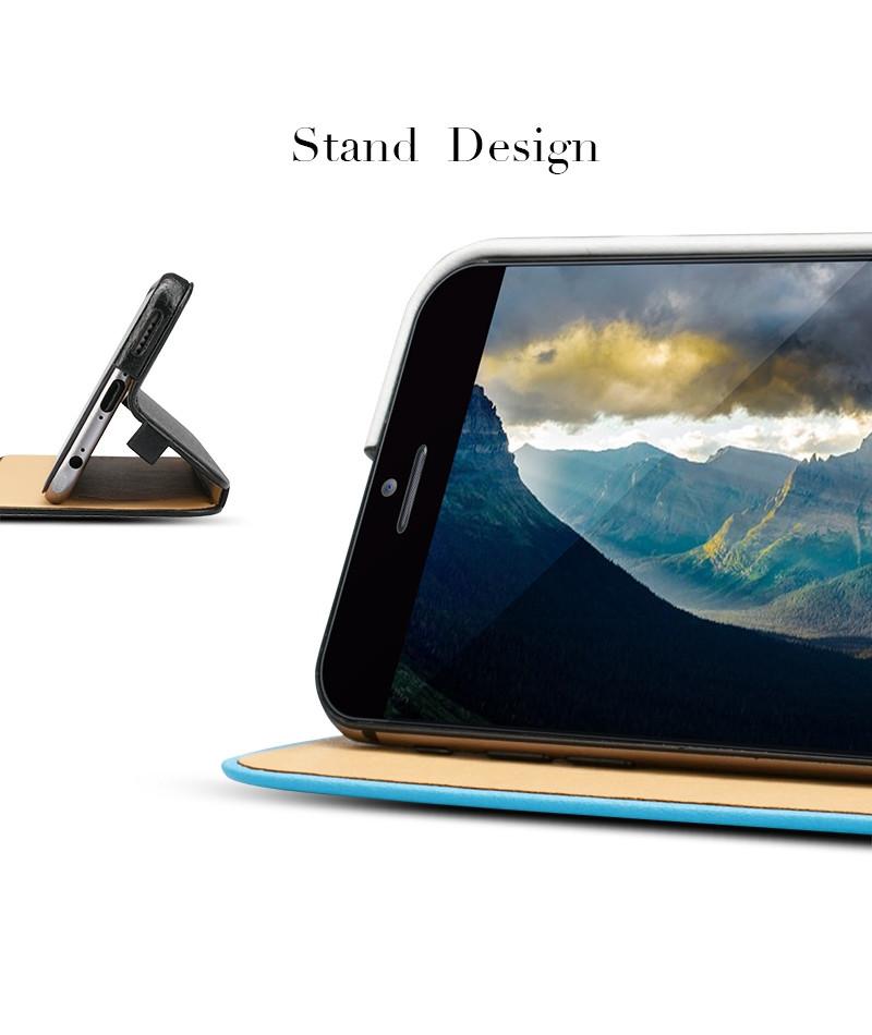 Light Stand Quest Ragnarok Mobile: Mircrofiber Leather Case For Apple Iphone 6 Mobile Phone