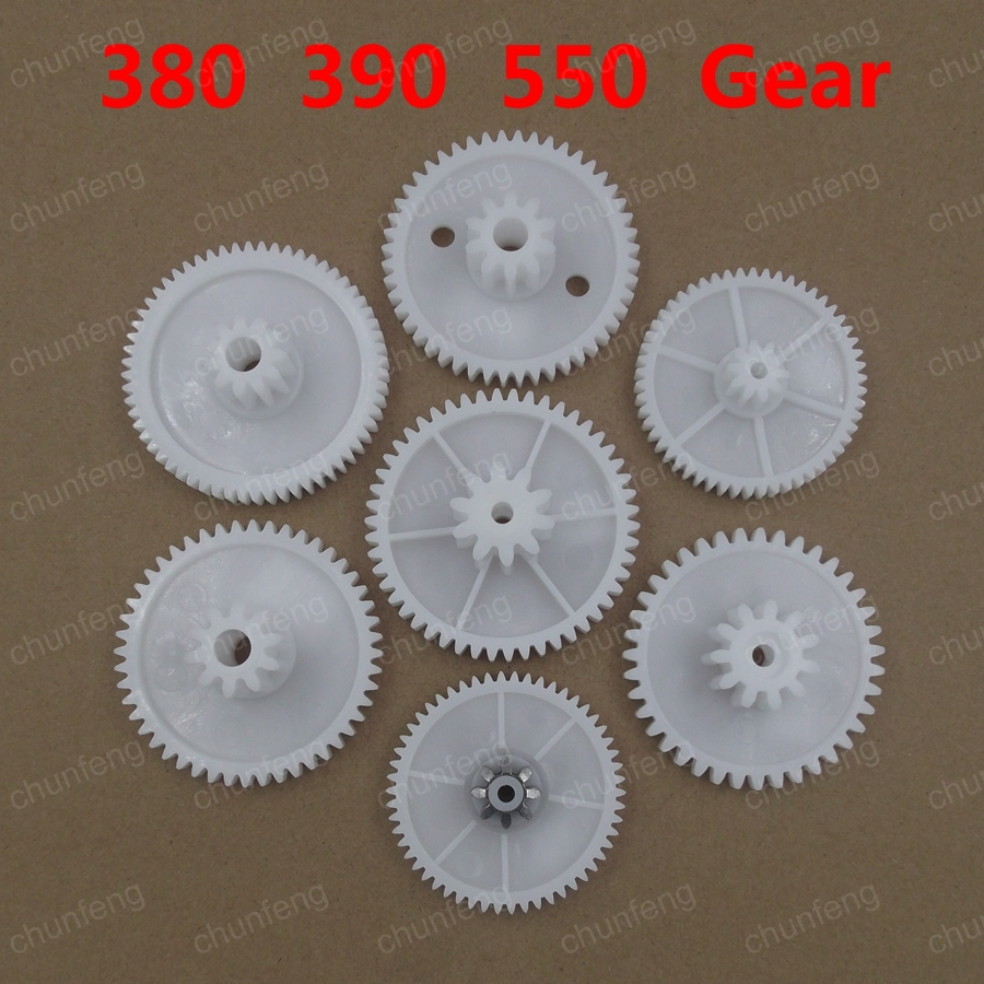 Electric Buggies Carriage Parts Accessories, RS380 RS550 Gear Motor Gear In The
