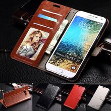 J7 Vintage wallet style Photo frame Leather phnoe case for Samsung Galaxy J7 J700 J700F case Stand Flip Fashion Wallet Card Hold