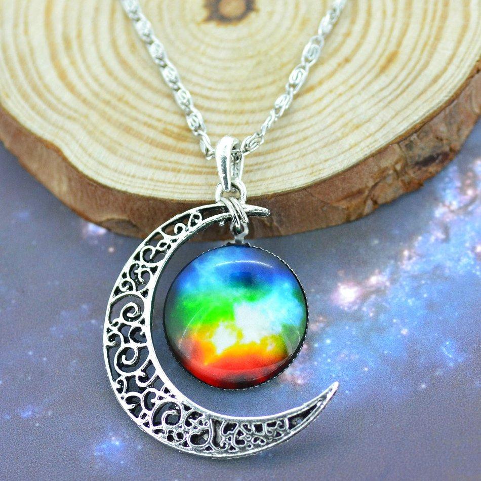 nebula moon necklace - photo #30