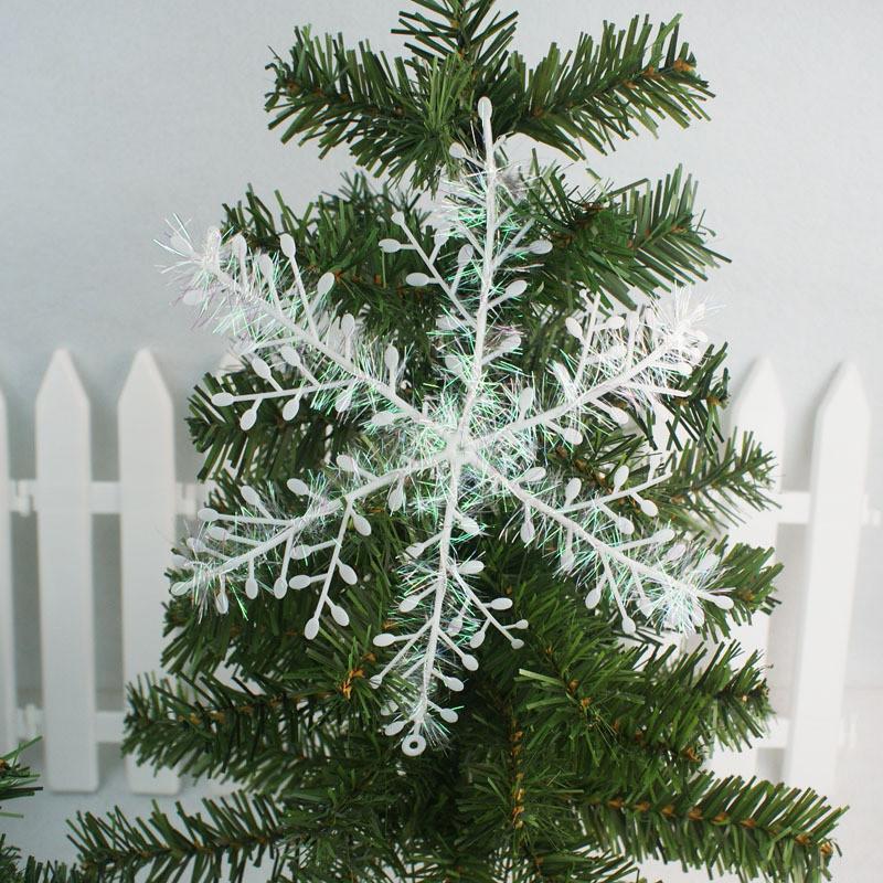 3pcs Snowflake Ornaments Christmas Holiday Festival Party Home Decor Christmas tree decoration