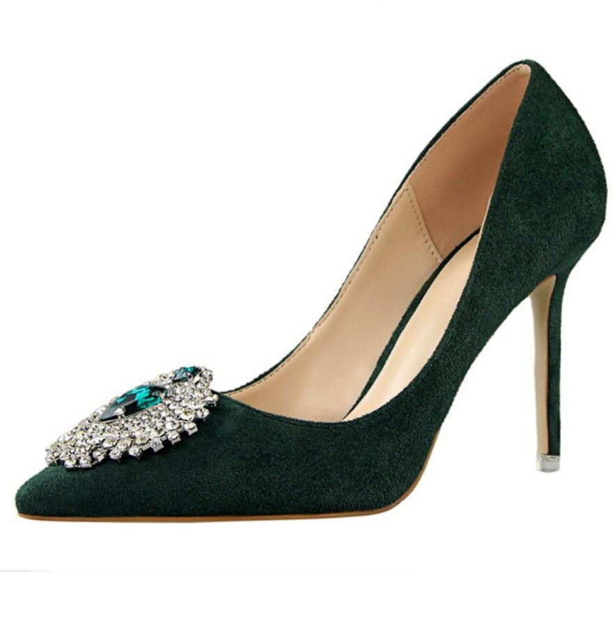 Burgundy Suede Wedding Shoes
