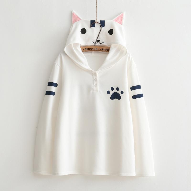 Compra sudadera con capucha con orejas de gato online al