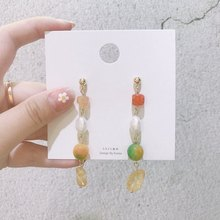 MENGJIQIAO, новинка 2019, винтажный стиль, натуральный камень, серьги для женщин, элегантные жемчужные бусы, модные вечерние украшения для девушек(Китай)