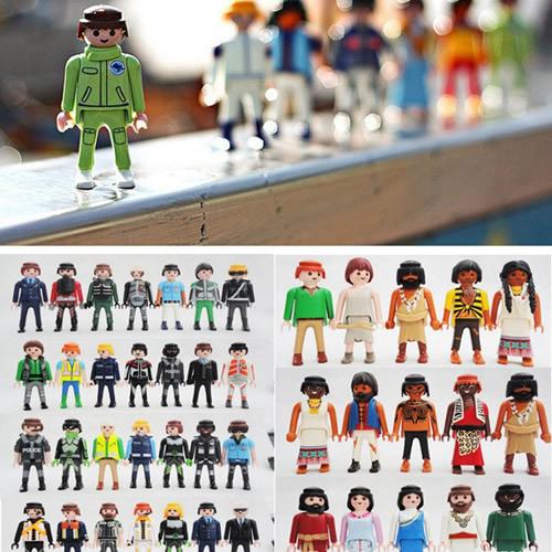 wholesale 10Pcs 7.5cm Playmobil Toys Action Figures Castle Child Kids Small People Model Doll Boutique Animation Toy Send Random