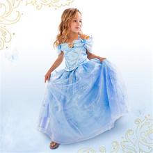 Girl Cinderella Wedding Party font b Dress b font Newest Cinderella Kids font b Dress b