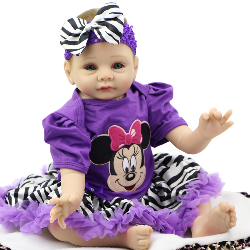 Lovely Cheap Girl Toys Collectible Baby Reborn 22inch Soft ...